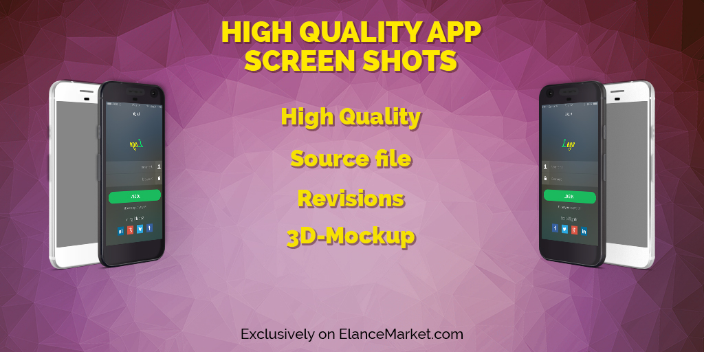 Create Professional High Quality App Screenshots