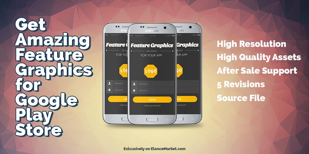 Design Professional App Feature Graphic