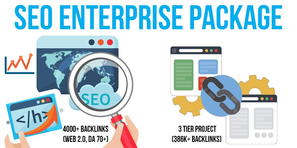 SEO Enterprise Package: 10 Premium & 20 SEnuke Campaigns, 4K+ Backlinks (Web 2.0, DA 70+, Do-Follow), 3 Tier Project