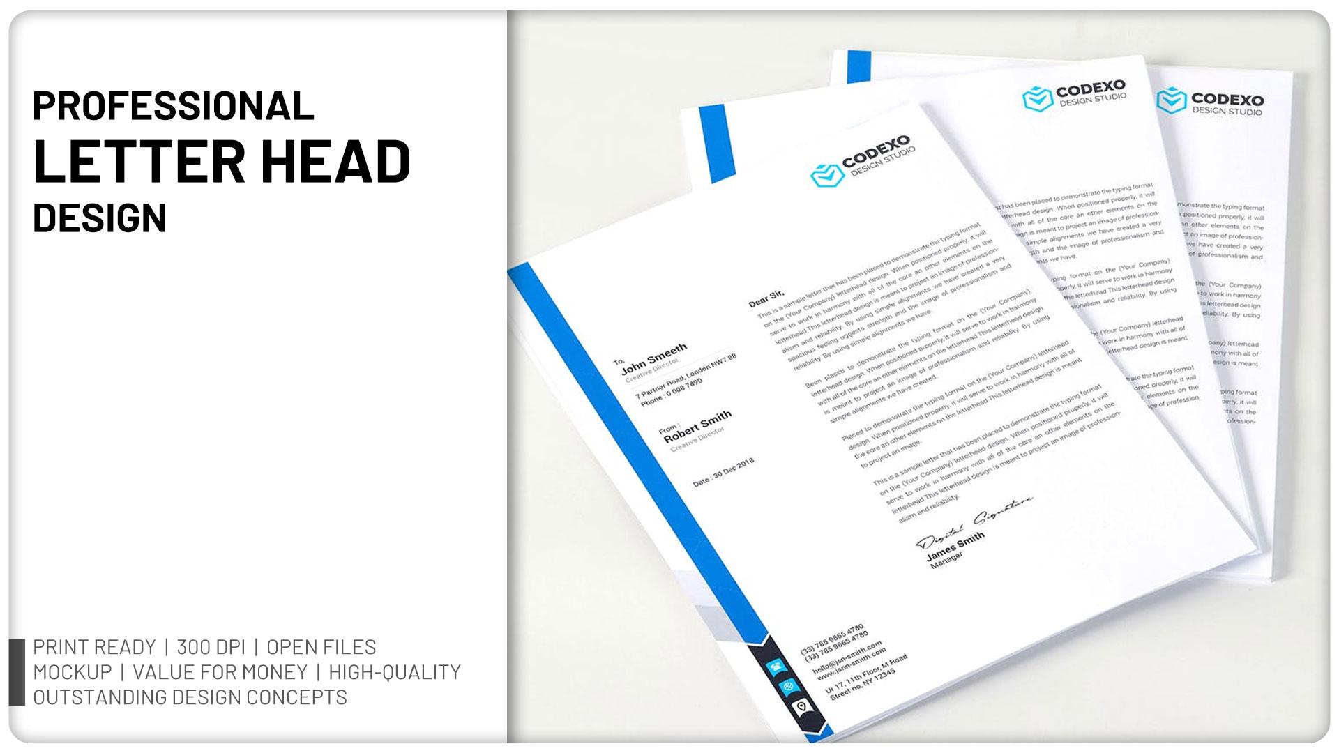 Will design Professional Letter Head